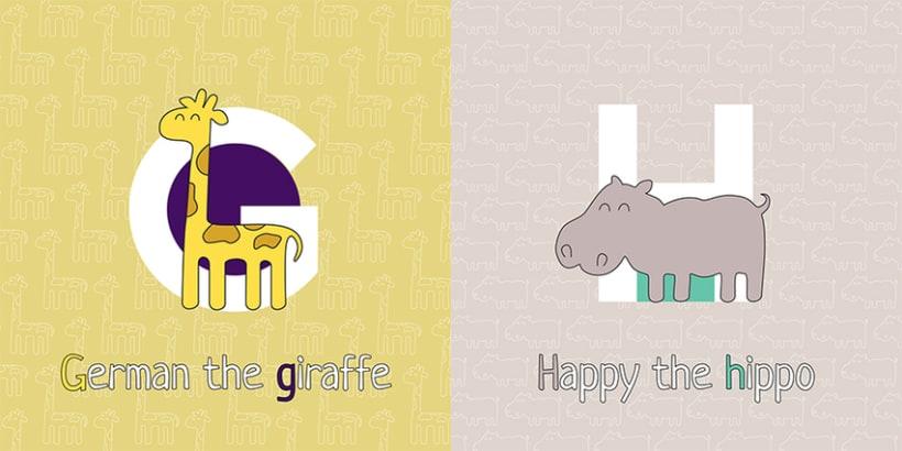 AnimalZ. Abecedario en inglés para niños 5