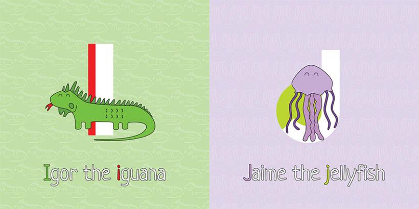 AnimalZ. Abecedario en inglés para niños 6
