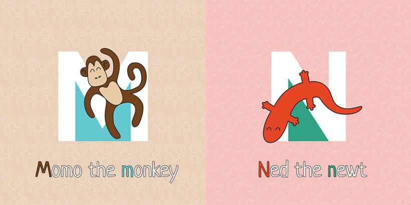 AnimalZ. Abecedario en inglés para niños 8