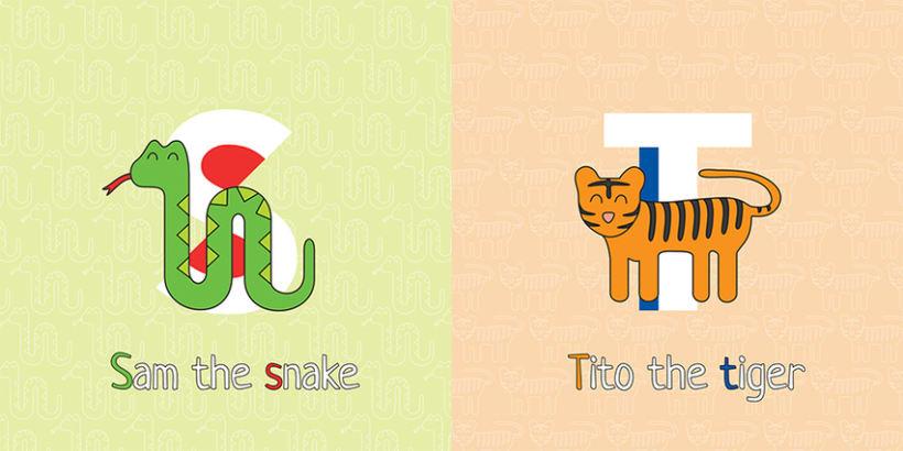 AnimalZ. Abecedario en inglés para niños 11