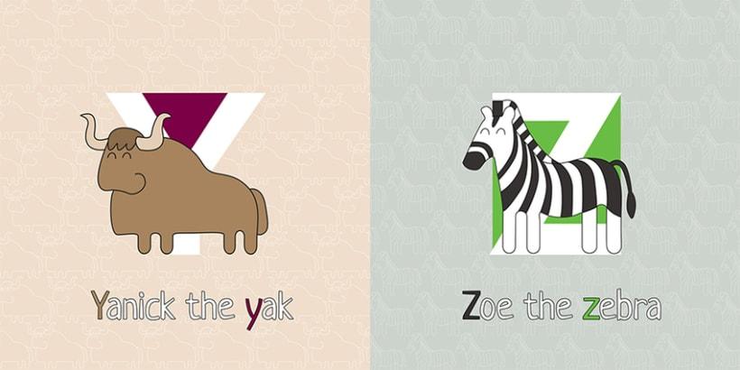AnimalZ. Abecedario en inglés para niños 14