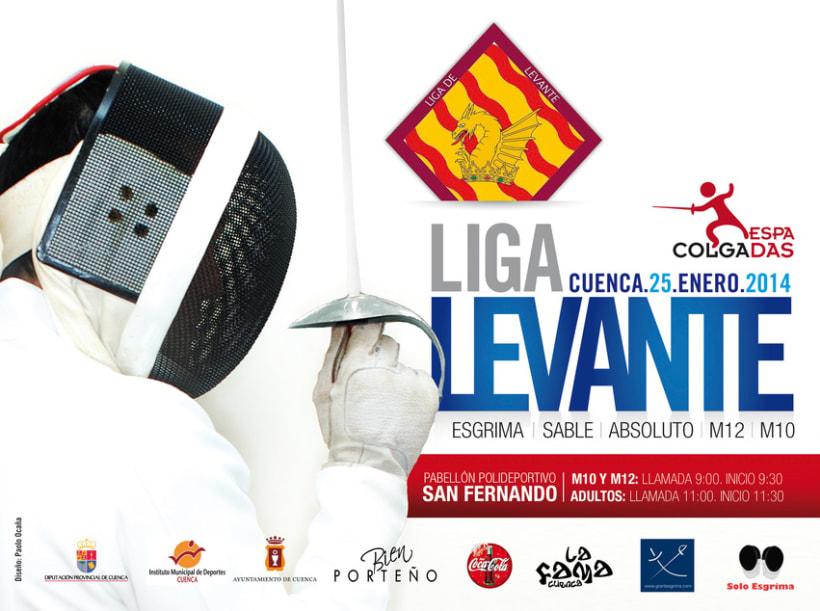 Cartel Liga Levante de Esgrima 0