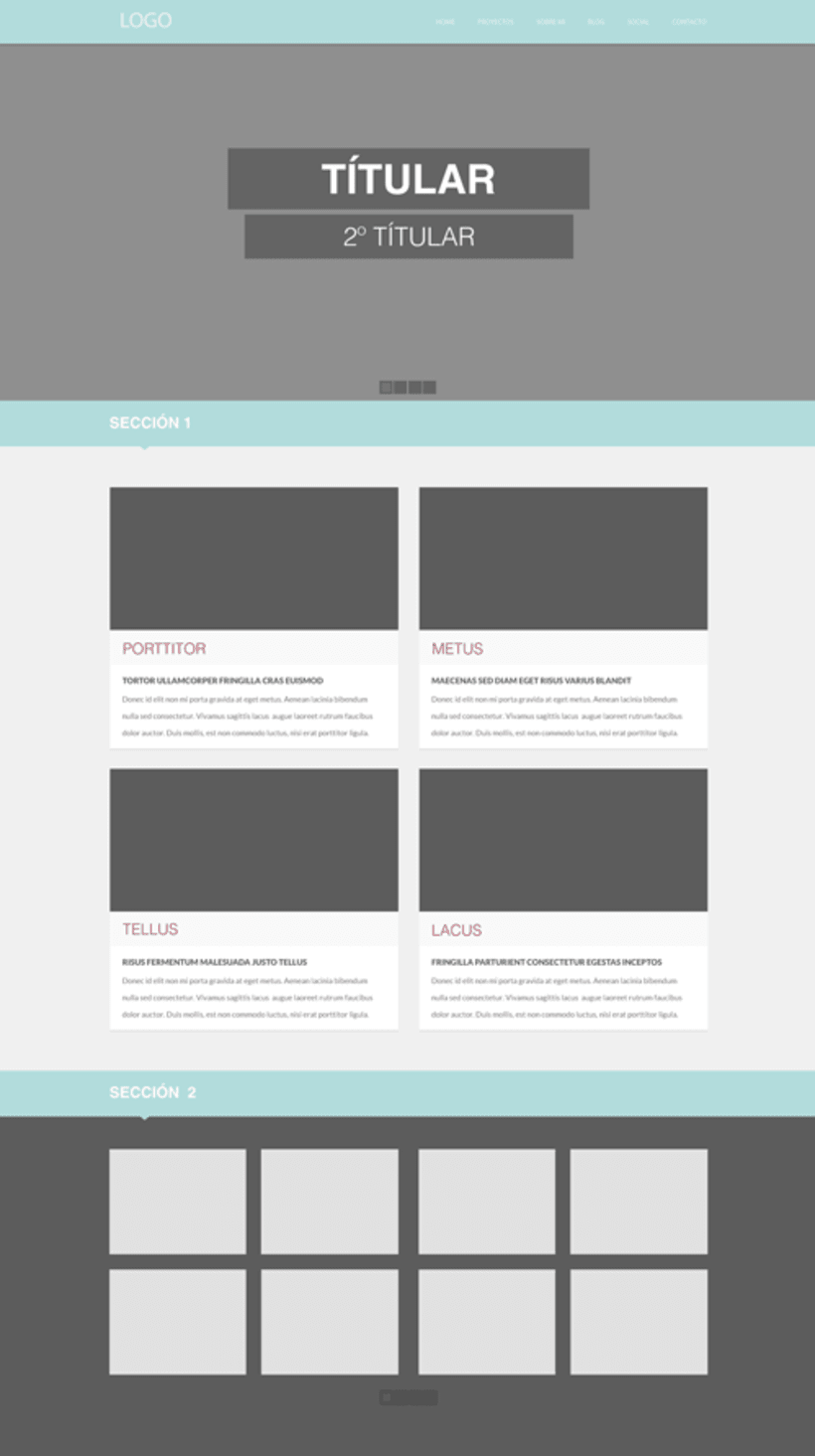 Diseño web - Plantilla Cantor | Domestika