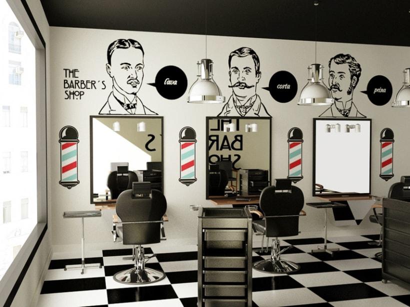 Decoraci n con vinilos de corte domestika for Decoracion en peluquerias