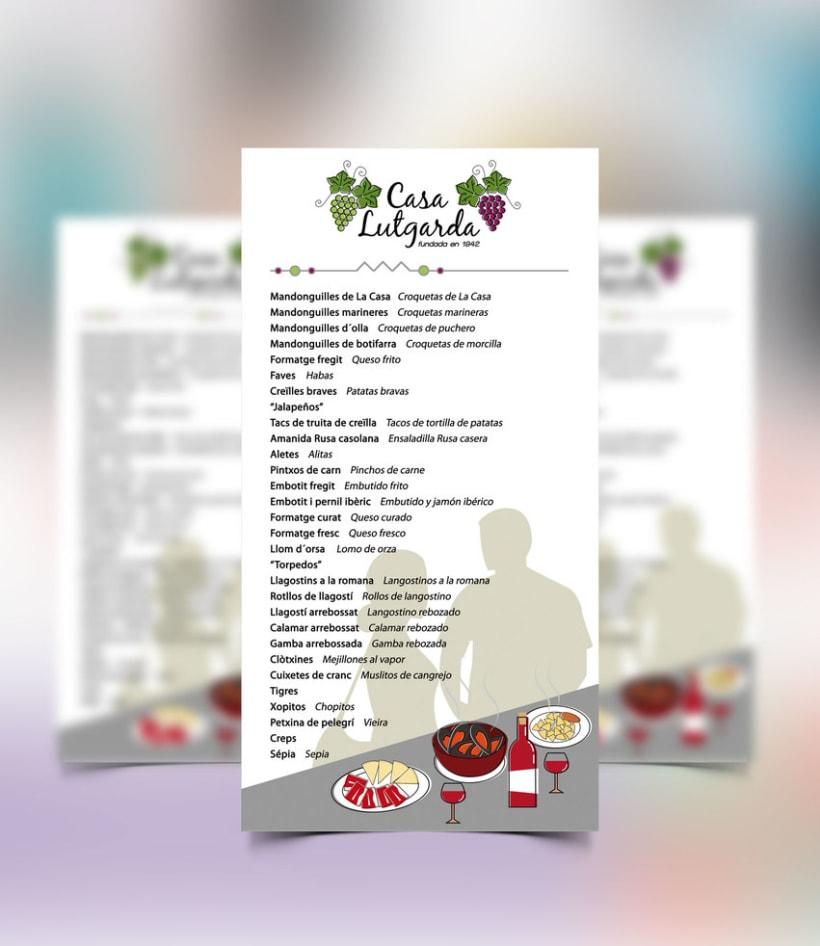 Diseño personalizado - Logotipo y cartas de menú 2