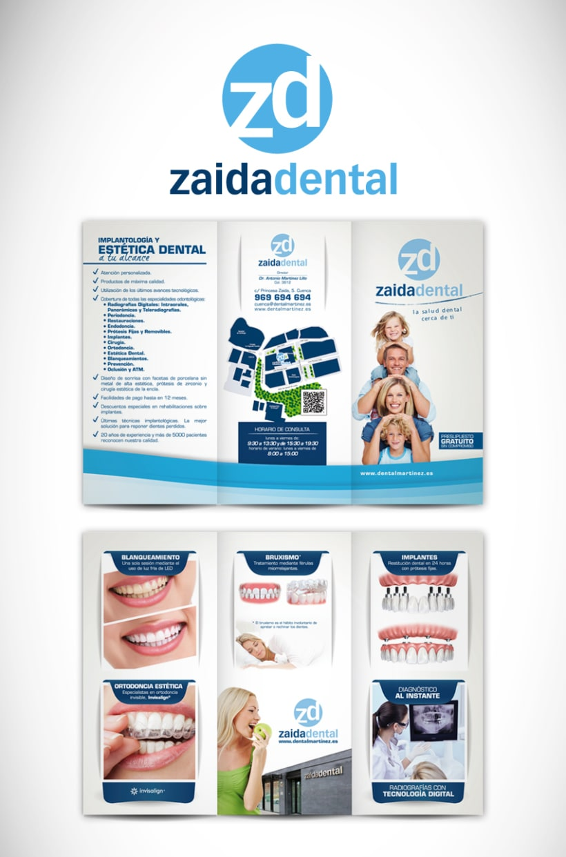 Triptico Clinica Dental Zaida 0