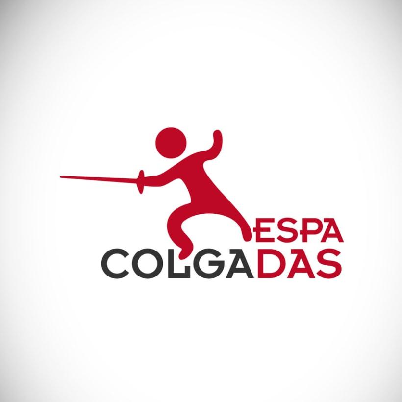 Logotipo Club de Esgrima Espadas Colgadas -1