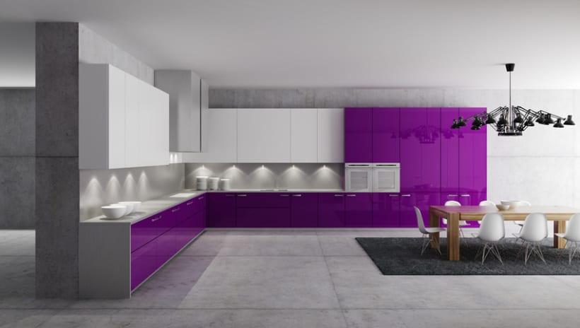 Cocina 3D | Domestika