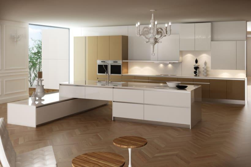 Cocina 3d domestika for Simulador de cocinas 3d