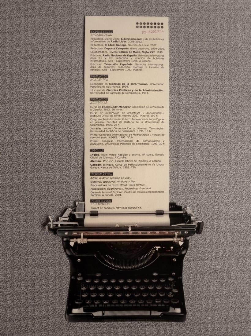 Curriculum Vitae para periodista. | Domestika