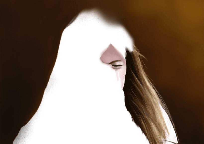 Retrato - Pintura digital realizada con los dedos en el Ipad 2