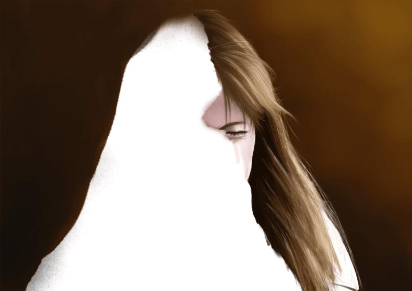 Retrato - Pintura digital realizada con los dedos en el Ipad 3