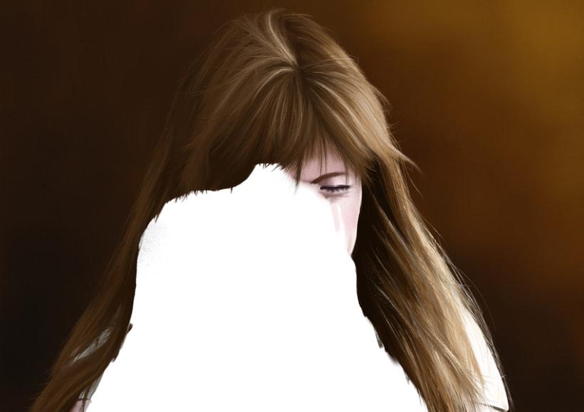 Retrato - Pintura digital realizada con los dedos en el Ipad 4