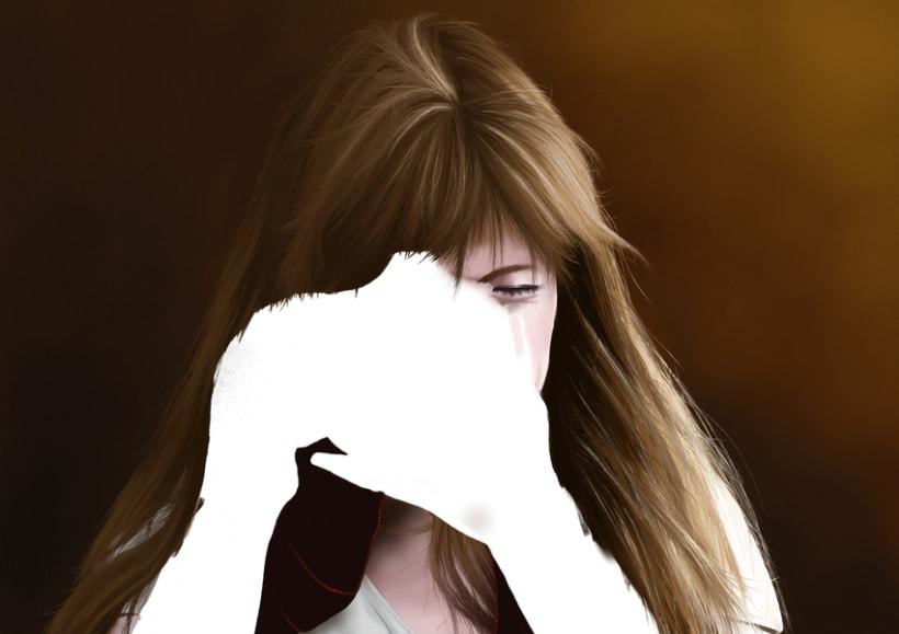 Retrato - Pintura digital realizada con los dedos en el Ipad 5