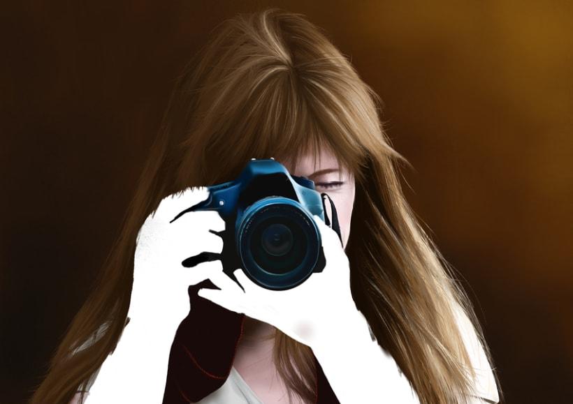 Retrato - Pintura digital realizada con los dedos en el Ipad 6