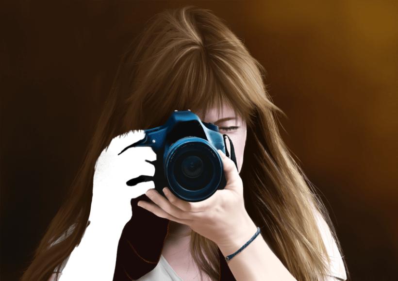 Retrato - Pintura digital realizada con los dedos en el Ipad 7
