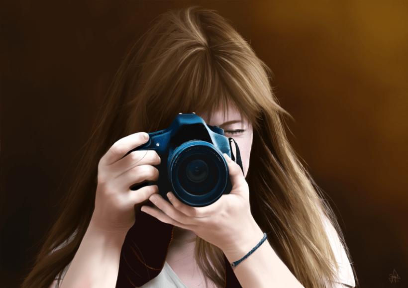 Retrato - Pintura digital realizada con los dedos en el Ipad 8