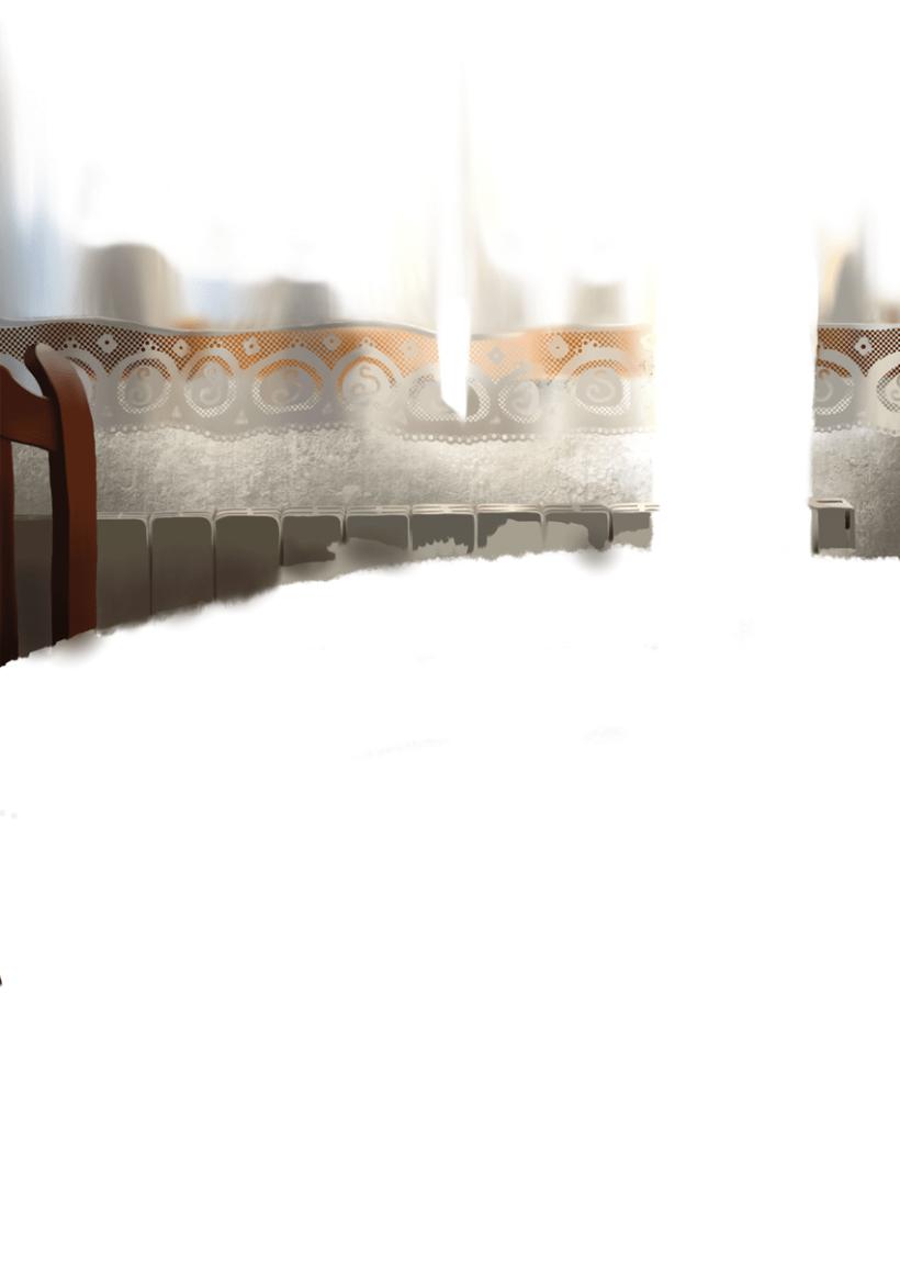 Luz de desayuno - Pintura digital realizada con los dedos en el Ipad 2