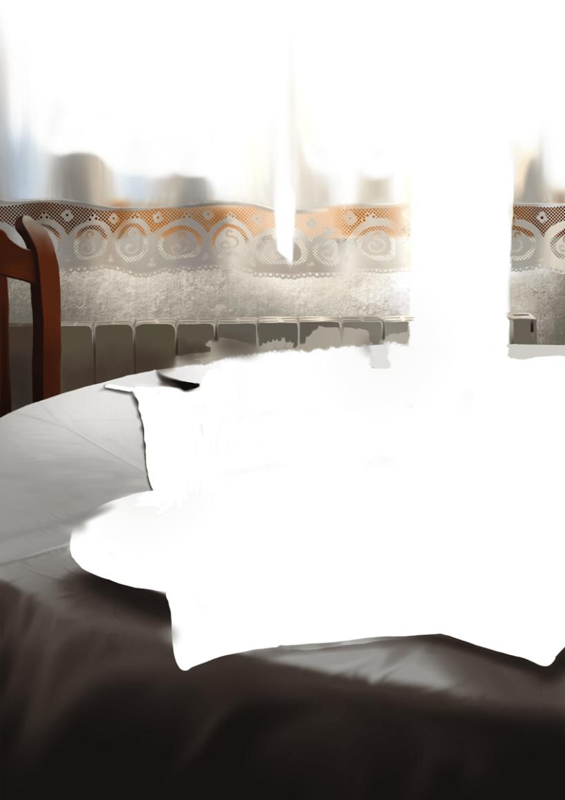 Luz de desayuno - Pintura digital realizada con los dedos en el Ipad 3