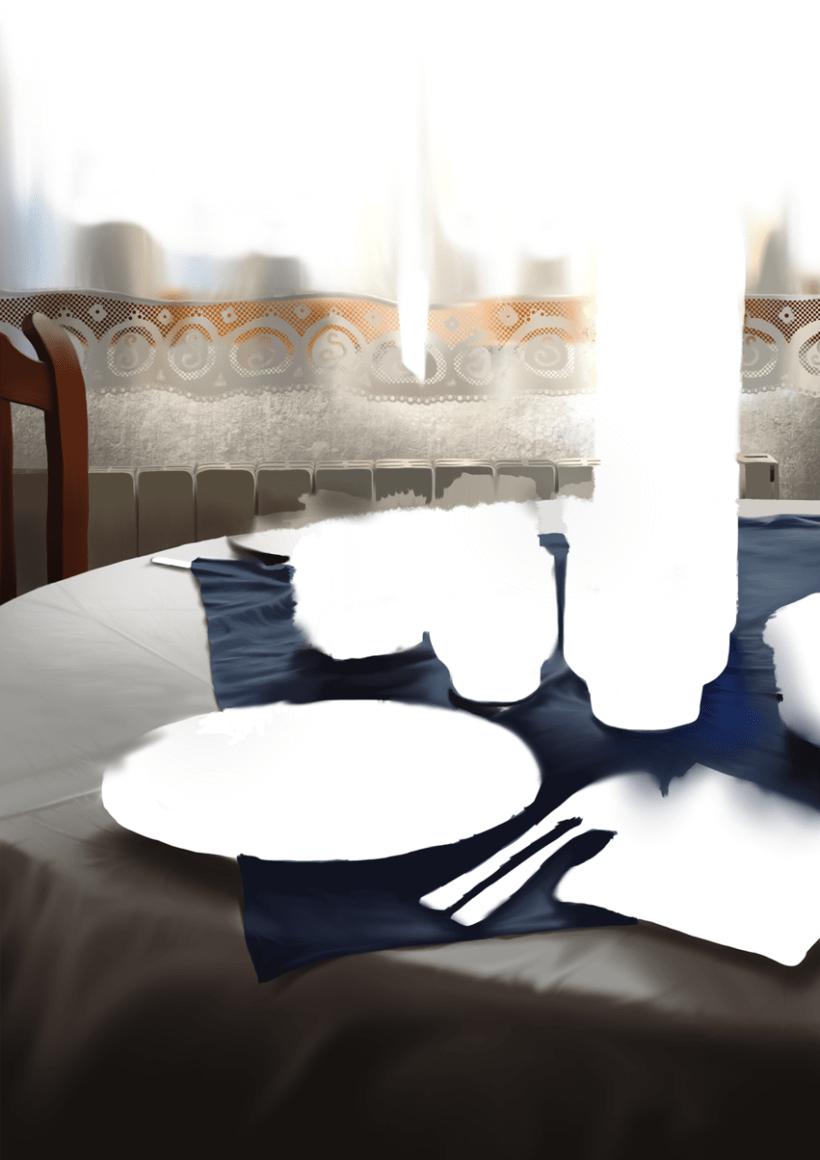 Luz de desayuno - Pintura digital realizada con los dedos en el Ipad 4