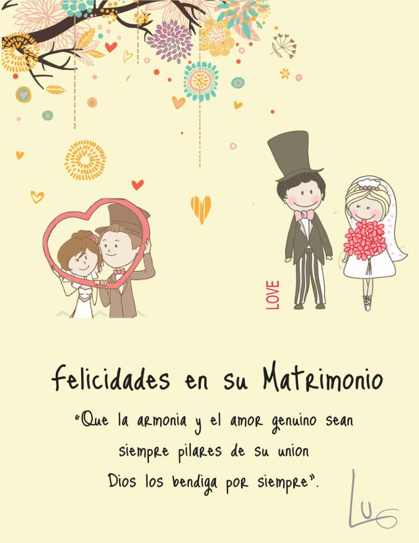 tarjetas de matrimonio para imprimir bellas