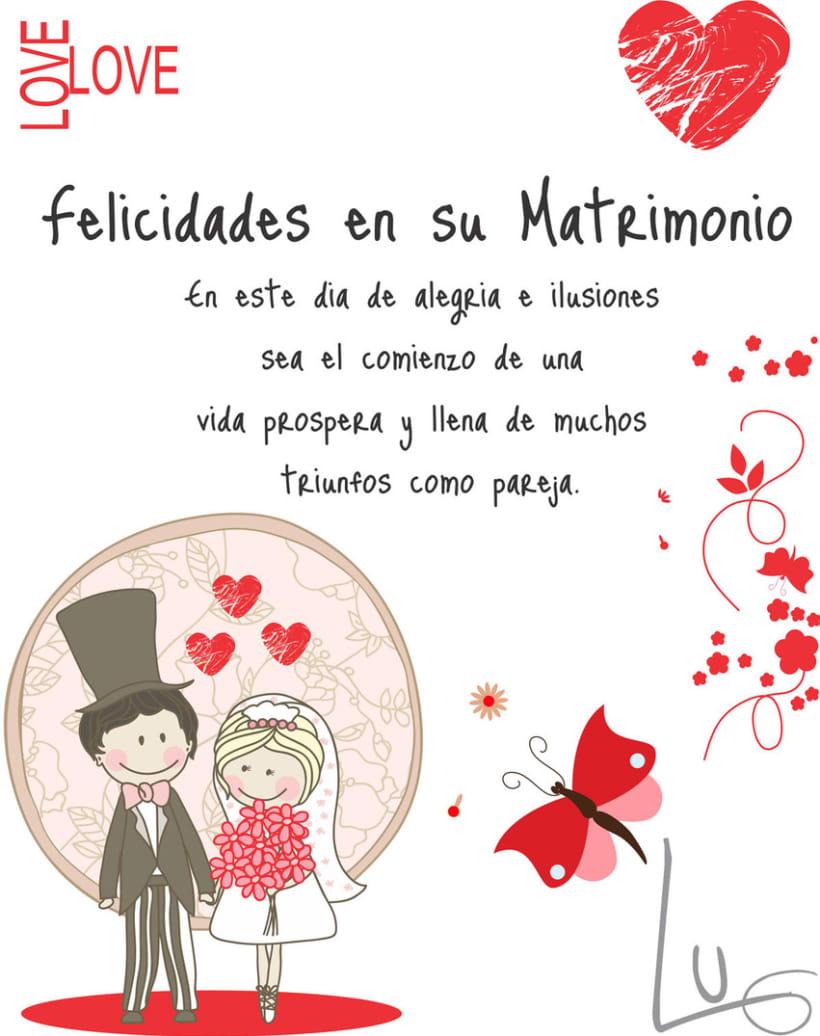 Tarjetas De Felicitaciones Para Matrimonio