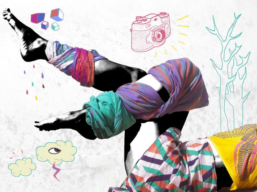 Photography illustrations & design for Buff and MyRestlesseye fashion blog 1