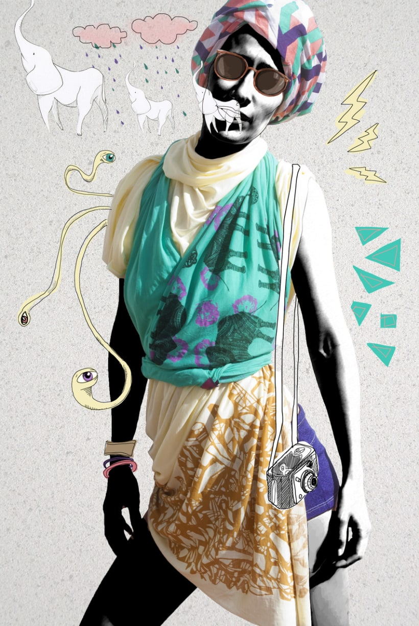 Photography illustrations & design for Buff and MyRestlesseye fashion blog 4