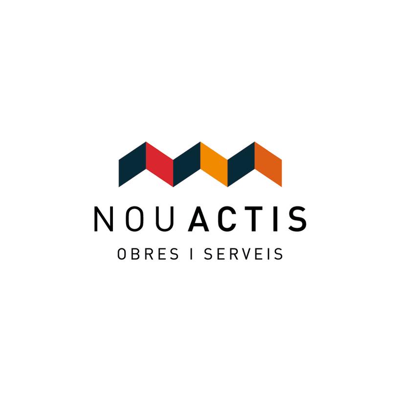 Logotipo para nou actis empresa de construcci n domestika for Empresas construccion