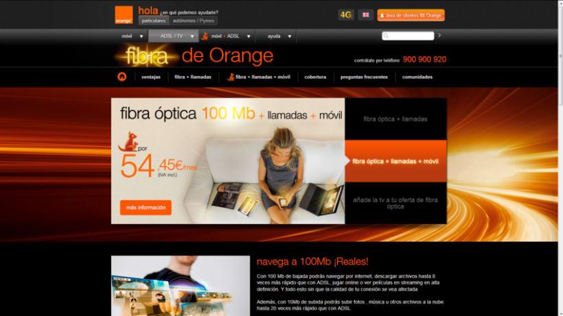Fibra Óptica de Orange 20