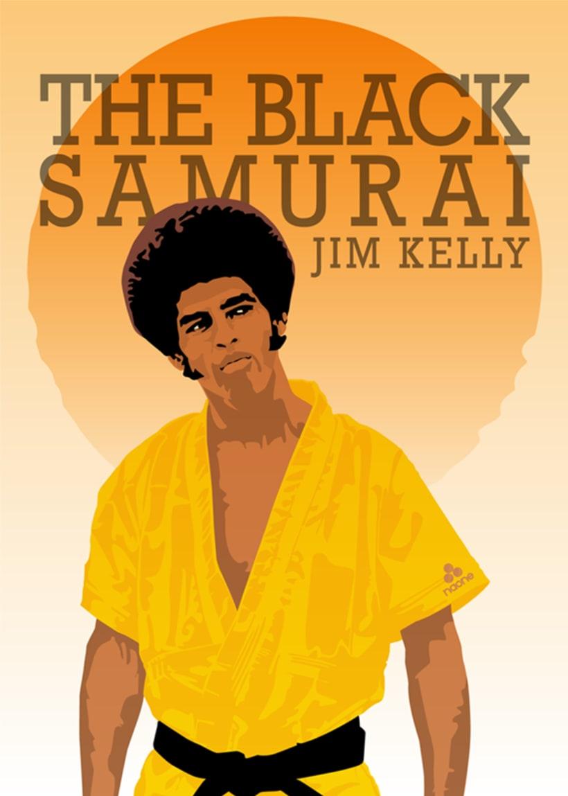 The Black Samurai. Jim Kelly. -1