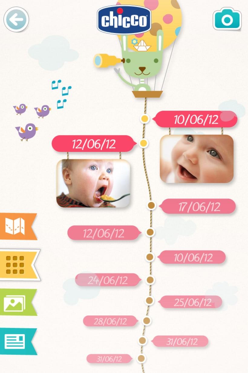 Chicco Baby Book es una app para ordenar y visualizar las fotos de tu bebé de una forma bonita y divertida. 1
