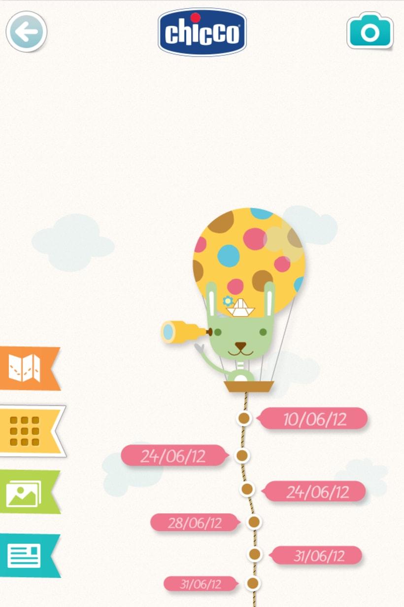 Chicco Baby Book es una app para ordenar y visualizar las fotos de tu bebé de una forma bonita y divertida. 0