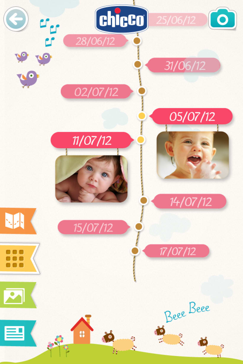 Chicco Baby Book es una app para ordenar y visualizar las fotos de tu bebé de una forma bonita y divertida. 2