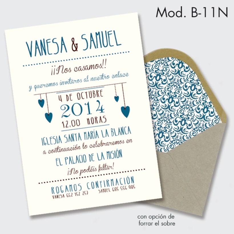 invitación de boda estilo vintage -1
