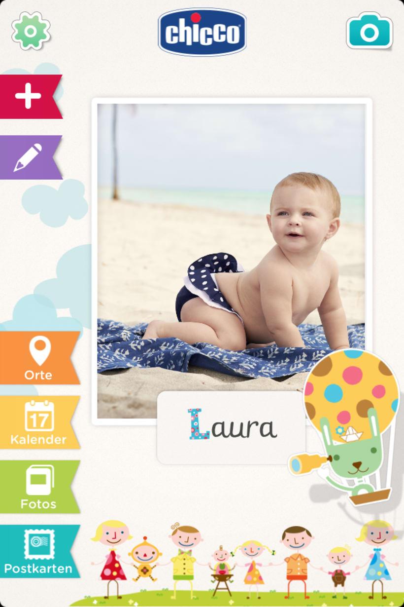 Chicco Baby Book es una app para ordenar y visualizar las fotos de tu bebé de una forma bonita y divertida. 10