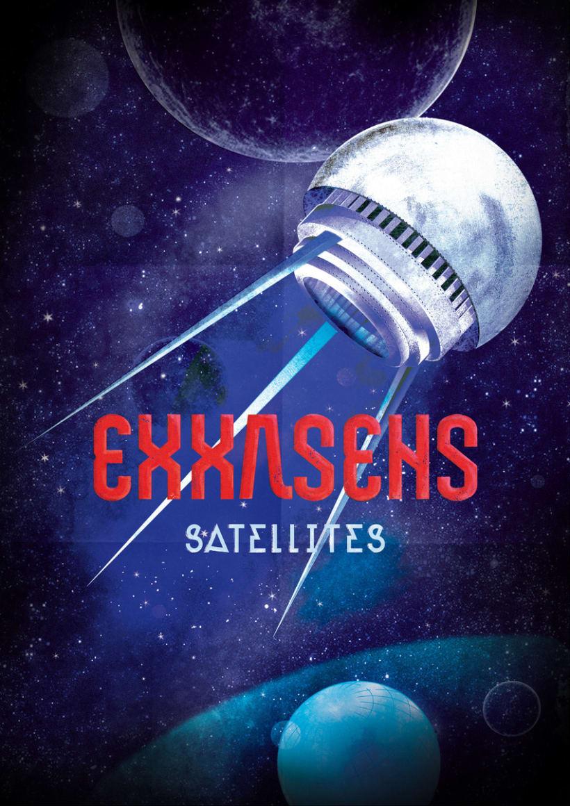 EXXASENS Satellites (LP, cd, poster & web) 2