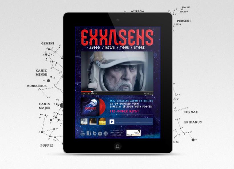 EXXASENS Satellites (LP, cd, poster & web) 3