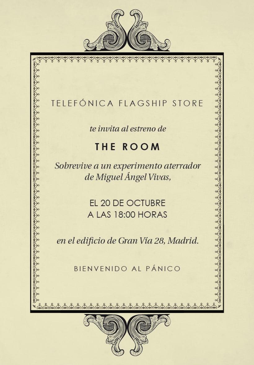 Invitación a la première de The Room 2
