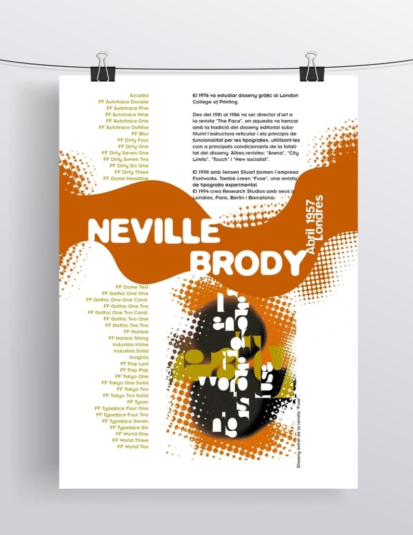 Poster dedicado al tipógrafo Neville Brody 0