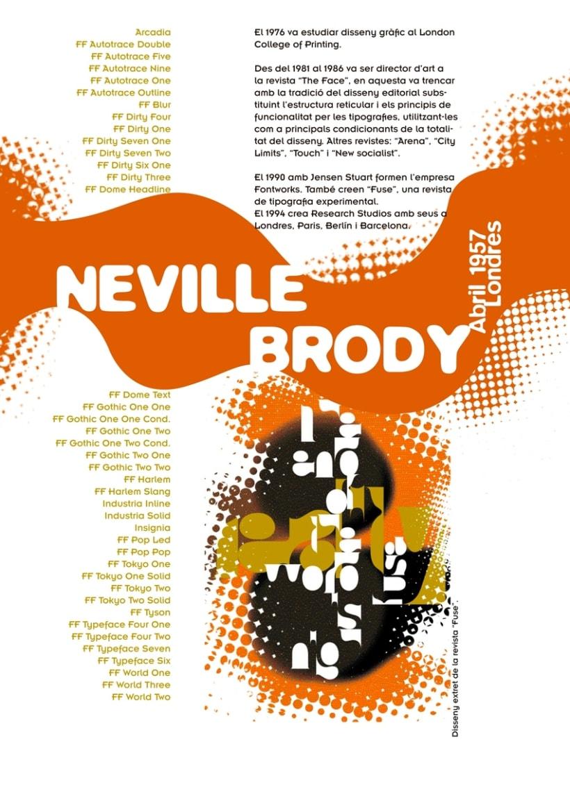 Poster dedicado al tipógrafo Neville Brody 1