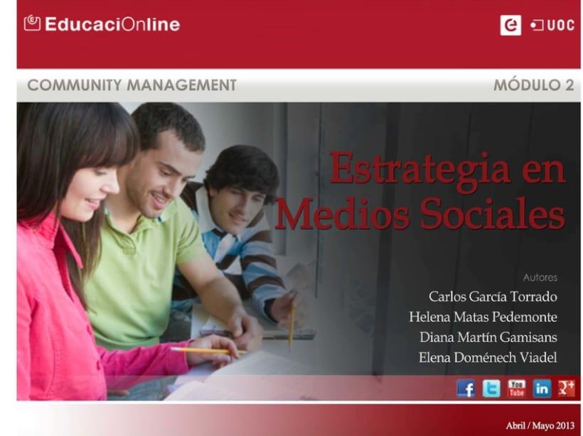 UOC: Estrategia en Medios Sociales. Proyecto de equipo. Documento interactivo 0