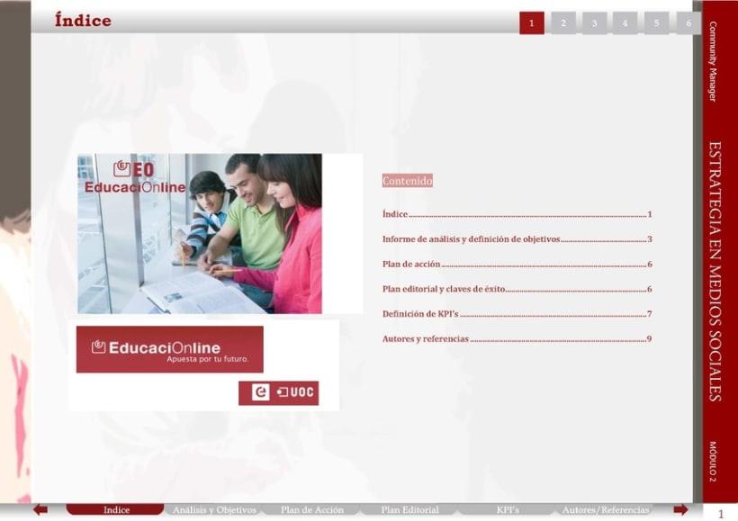 UOC: Estrategia en Medios Sociales. Proyecto de equipo. Documento interactivo 1