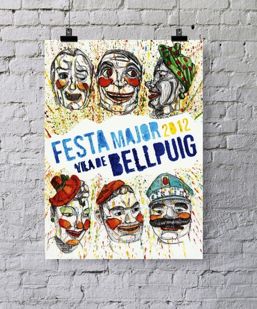 """Primer premio del concurso de carteles de la """"Festa Major Bellpuig, 2012""""  1"""
