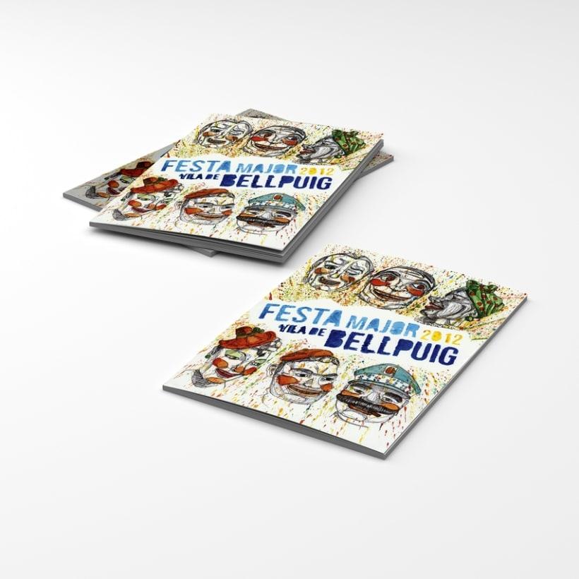 """Primer premio del concurso de carteles de la """"Festa Major Bellpuig, 2012""""  2"""
