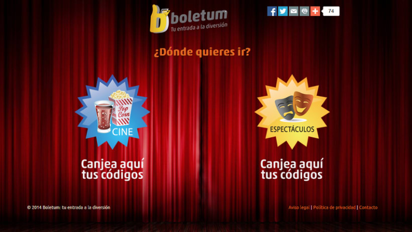 Boletum, sistema de canje de entradas de cine, musicales, teatros... 0
