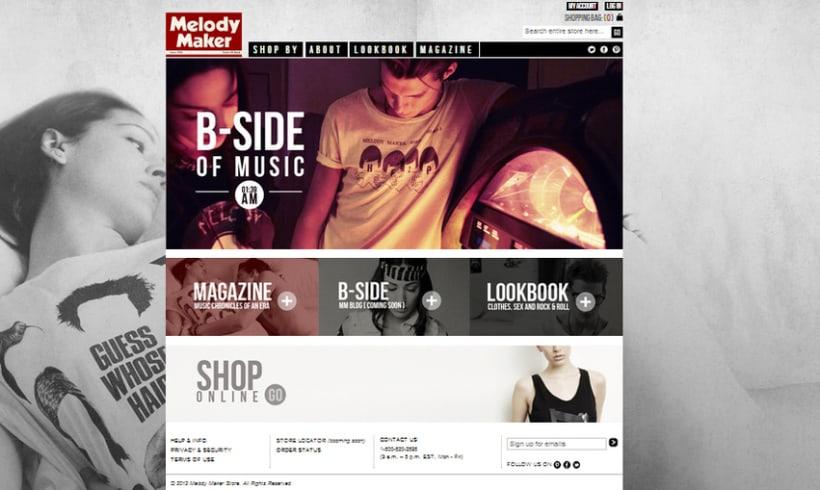 Melody Maker US, tienda de moda 0