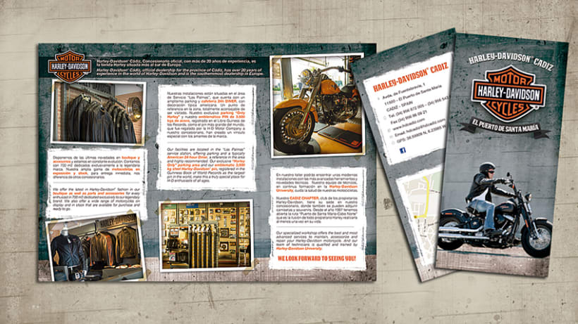 Tríptico Harley Davidson 0