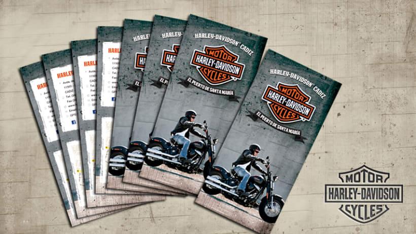 Tríptico Harley Davidson 1