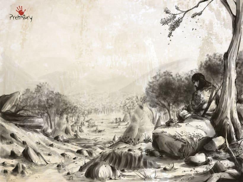 Collaboration. DIgital Painting. Prehistory Game. 0